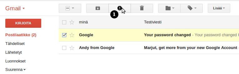sähköpostien siirto gmailiin